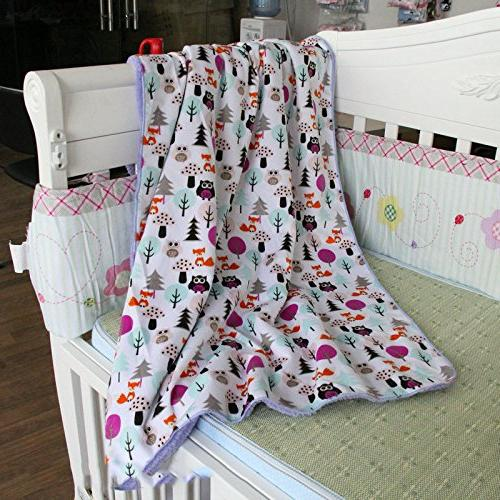 Genio Baby Fleece Baby Blanket x Soft- Perfect for and Owl Blankets Girls