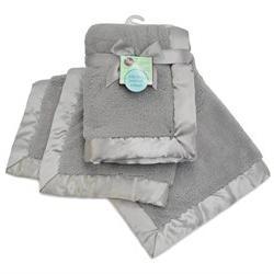 Sherpa Receiving Blanket, Gray