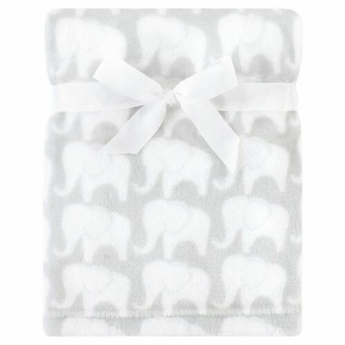 silky plush blanket gray elephant one size
