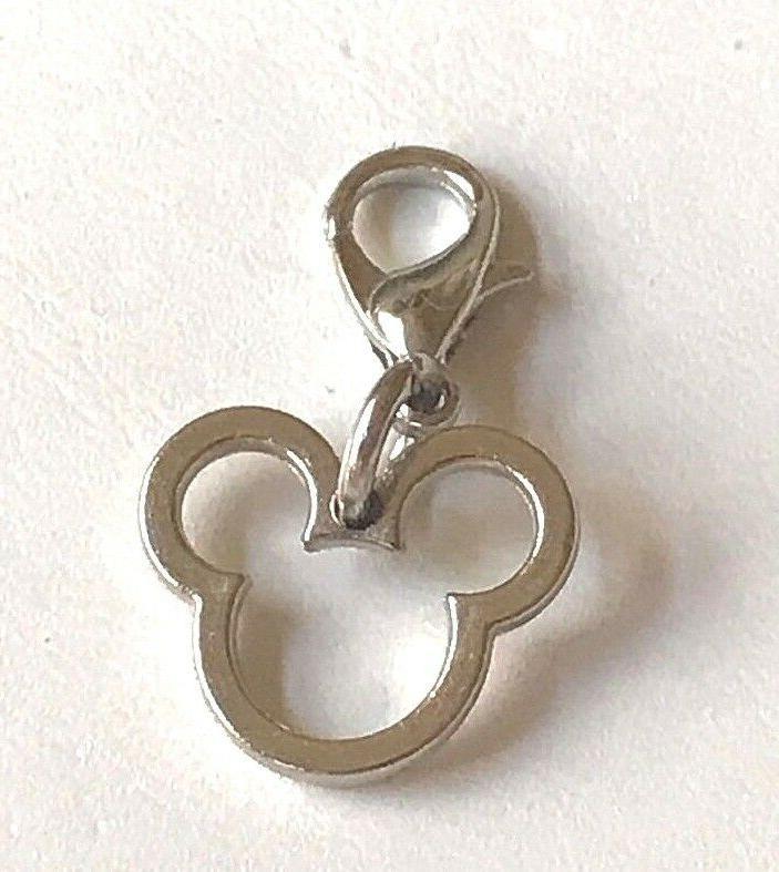 Silver Mickey Charm Bracelet Zipper Tag