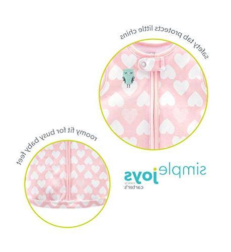 Simple Joys by Carter's Baby 3-Pack Sleeveless Sleepbag, Floral, Mint Elephants, Months