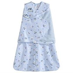 HALO SleepSack Cotton Swaddle - Blue Pup Pals - Small