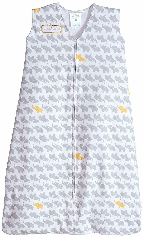 HALO SleepSack 100% Cotton Wearable Blanket, Gray Elephant G