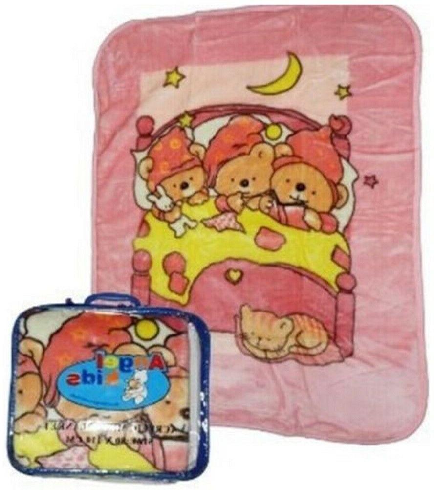 Soft Blanket Basket Bedtime Unisex Month