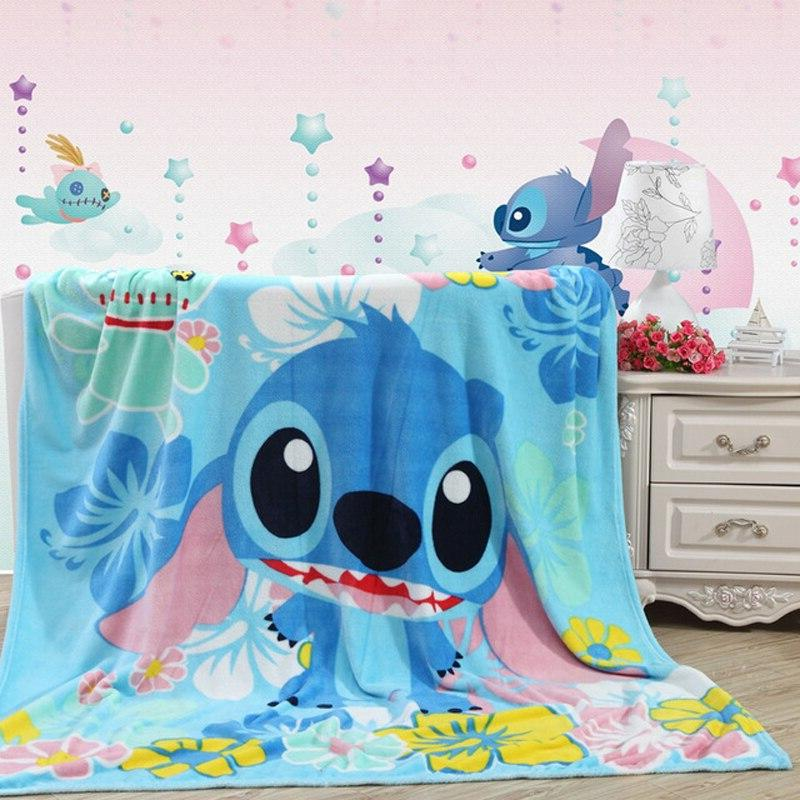 Disney Throw Mickey Mouse Stitch Boys Children's Bedroom on <font><b>Bed</b></font> Sofa
