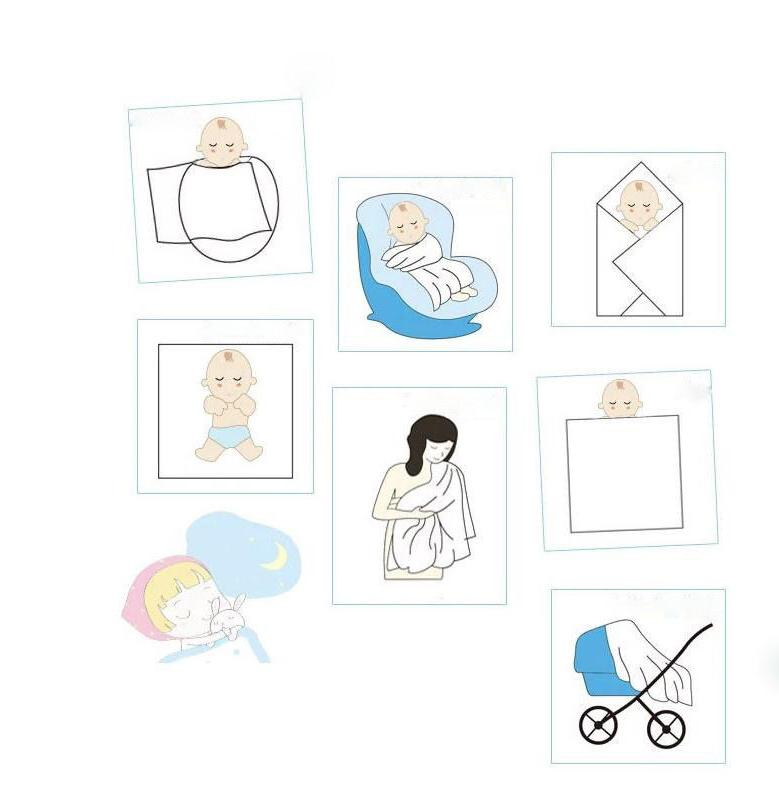 120 Cotton Muslin Swaddle Squares