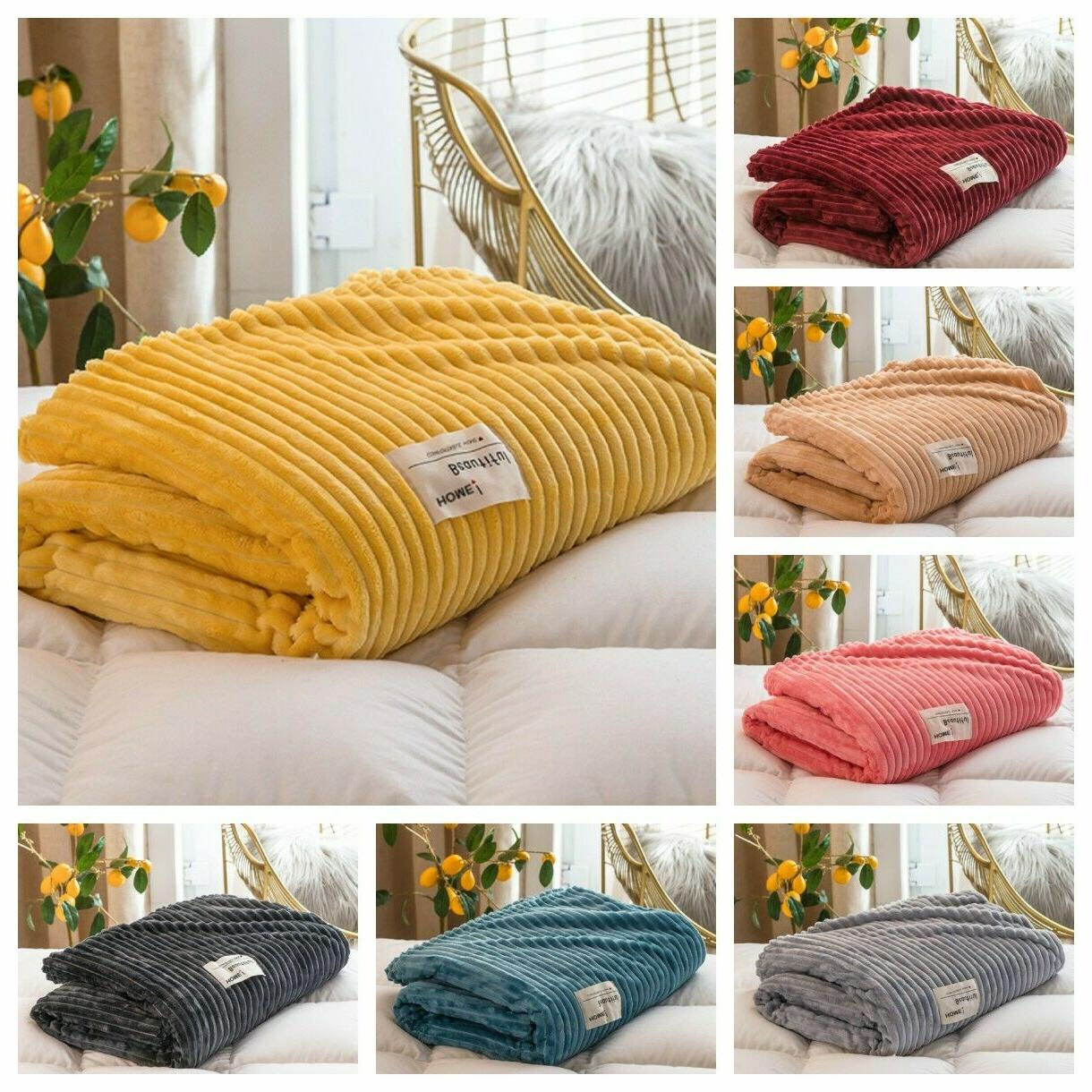 Soft Light Fleece Flannel Throw Blanket Rug for Couch/Sofa/B