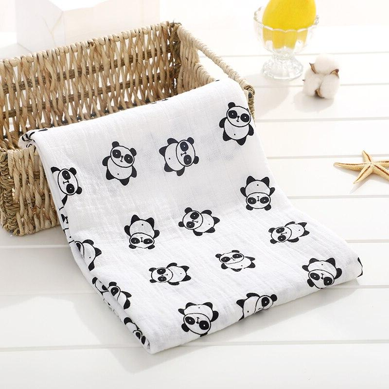 Soft Muslin Cotton <font><b>Baby</b></font> <font><b>Blanket</b></font> Cartoon Newborn <font><b>Blankets</b></font> Infant Wrap Stroller Cover Play Mat