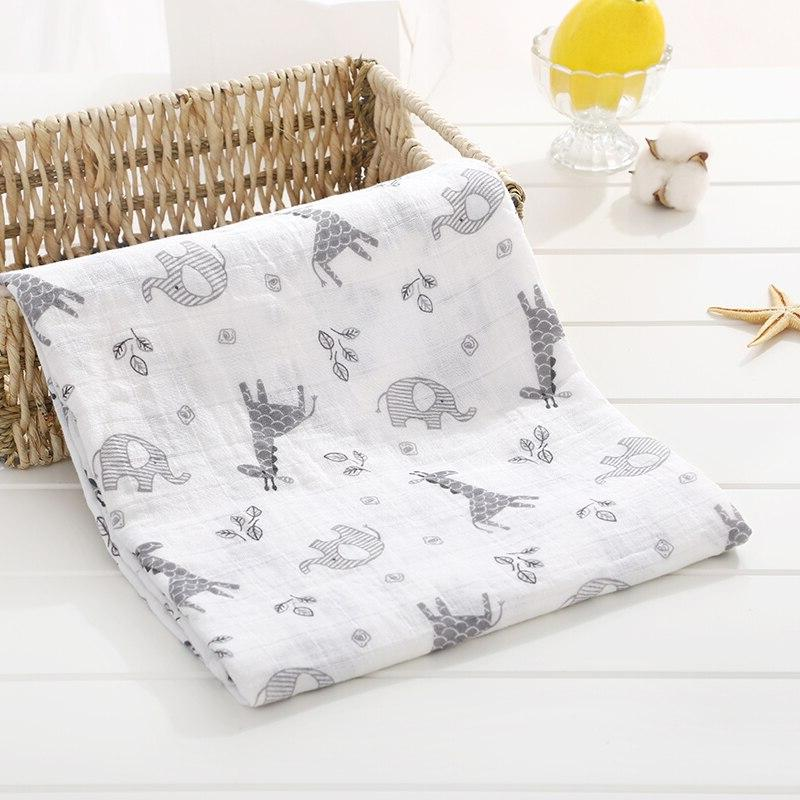 Soft Muslin 100% Cotton <font><b>Baby</b></font> Newborn <font><b>Blankets</b></font> Infant Sleepsack Stroller Cover Play