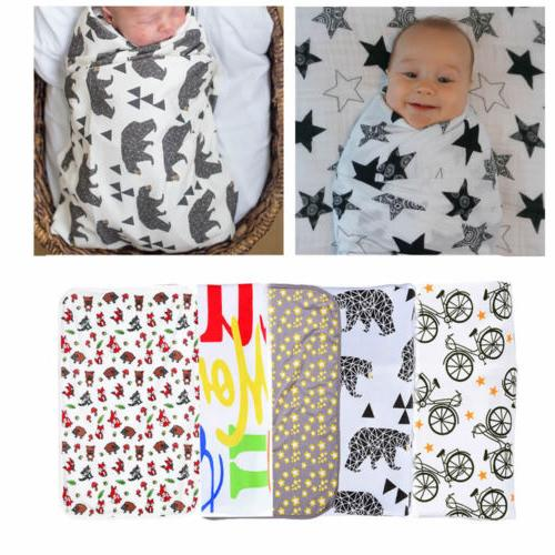 Soft Muslin Newborn Baby Blanket Bedding Blanket Wrap Swaddl