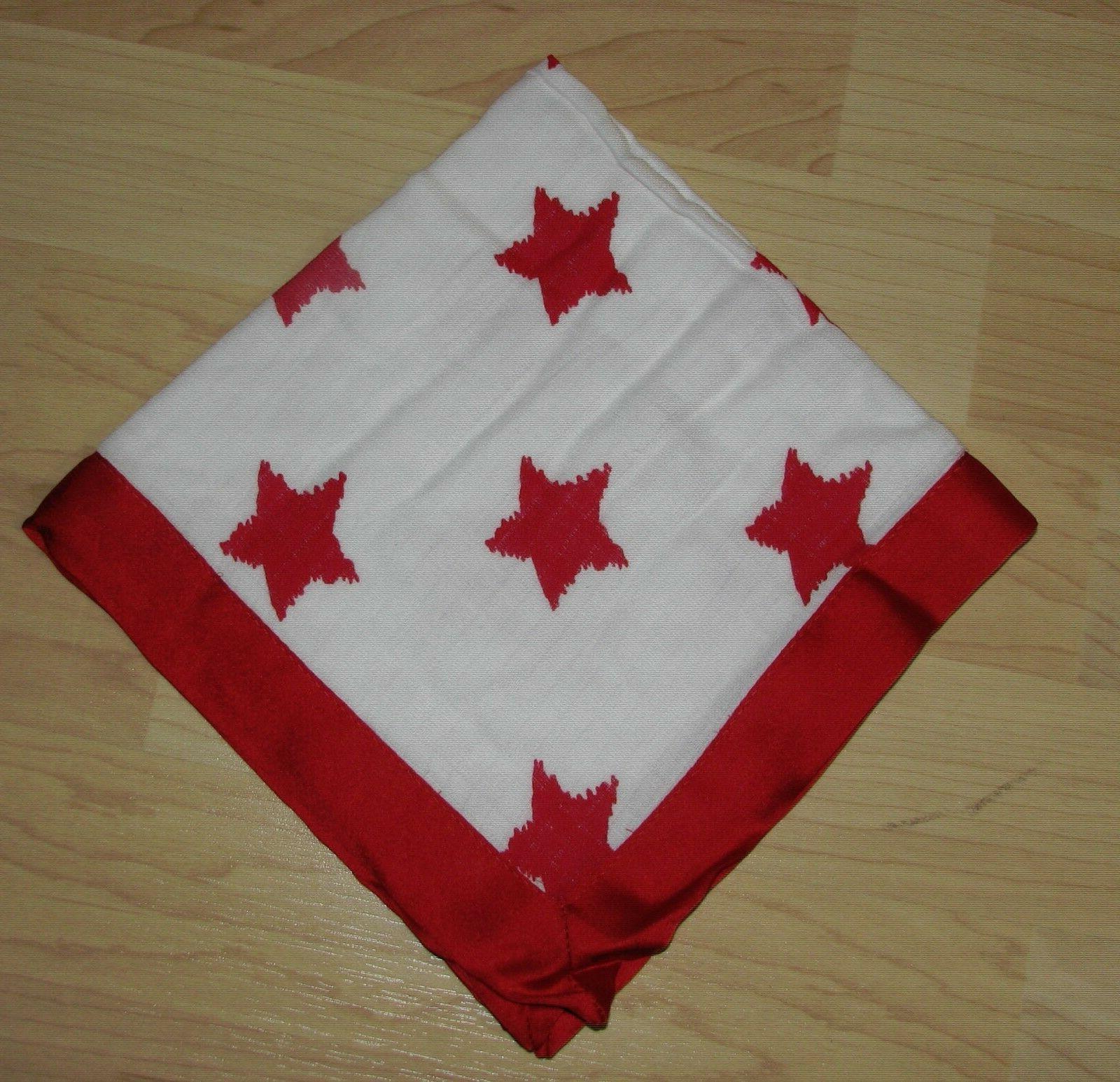 "Bacati Stars Ikat Muslin Security Baby Red Blanket 15"" Satee"