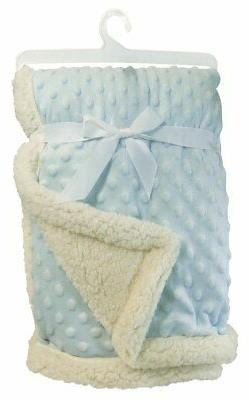Stephan Baby Super-Soft Reversible Velour Plush/Sherpa Plush