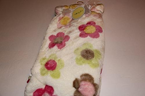 super soft flower baby blanket