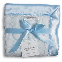 SwaddleDesigns Stroller Blanket - Puff Circles - Pastel Blue
