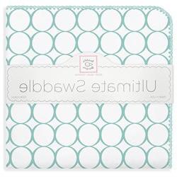 SwaddleDesigns Ultimate Swaddle Blanket - Mod Circles on Whi