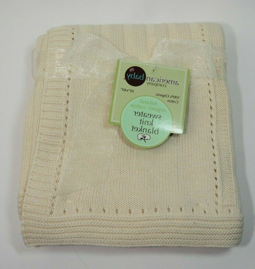 sweater knit swaddle blanket natural organic cotton