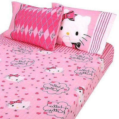 Hello Kitty Sweet and Sassy Twin Sheet Set
