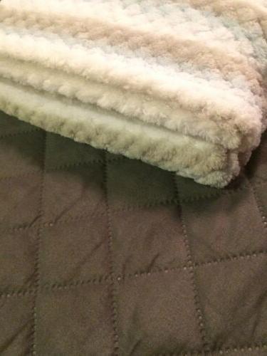 Swiggles Blanket White Gray Lovey Fleece 30x36