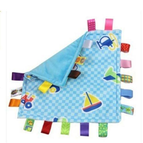 Baby Taggie Taggy Comforter Blanket Velvet Cloth  Soft Gift