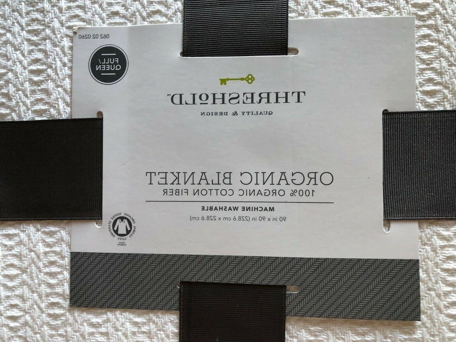 Threshold Blanket Organic Fiber,Lightweight White