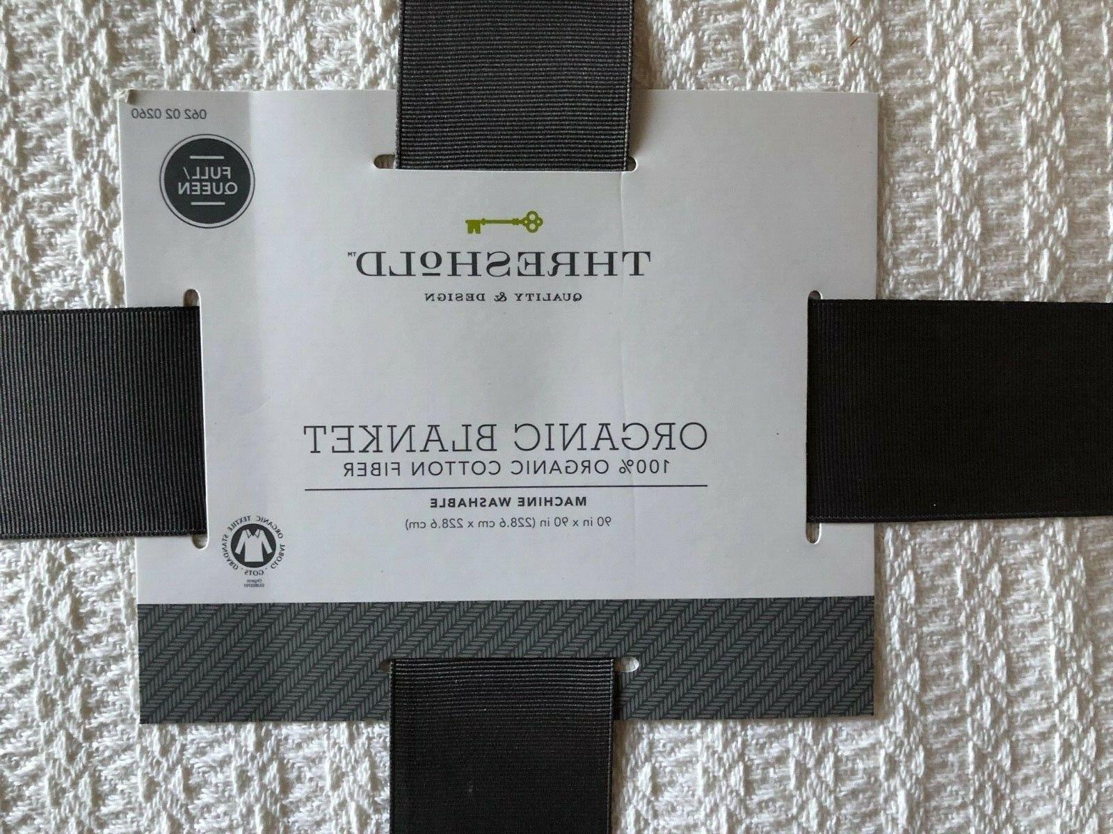 Threshold Organic Organic Fiber,Lightweight Full/Queen White