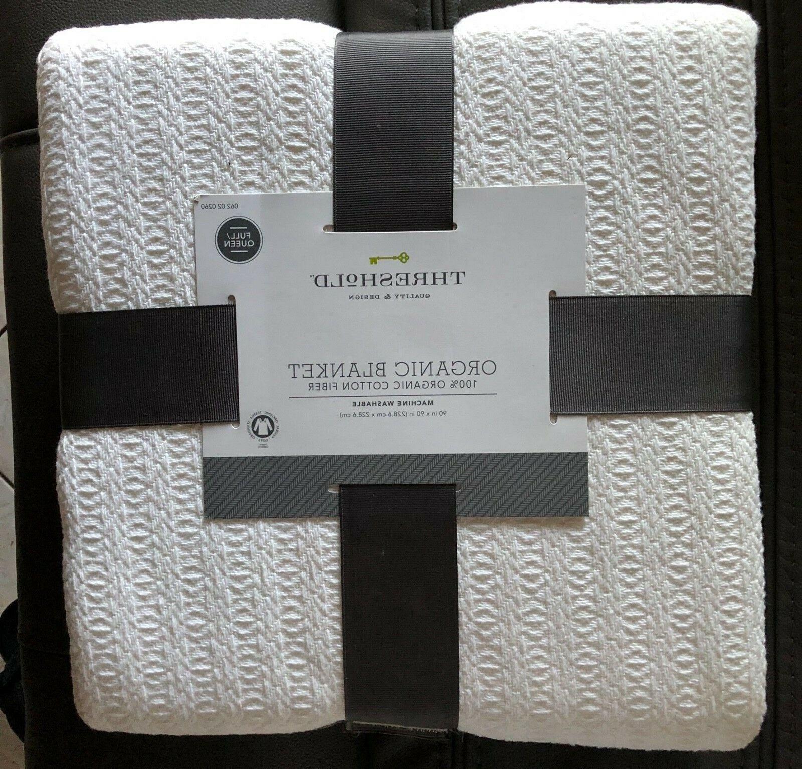 threshold organic blanket 100 percent organic cotton