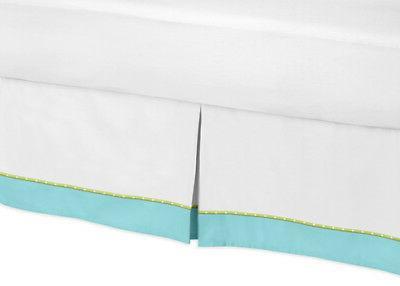 Sweet Jojo Designs Toddler Bed Skirt Dust Ruffle for Hooty O