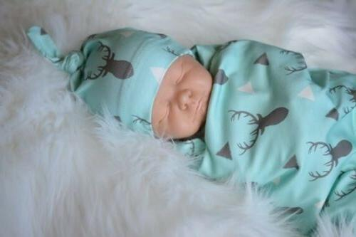Newborn Baby Boy Swaddle Blanket Sleeping Swaddle Muslin Wrap