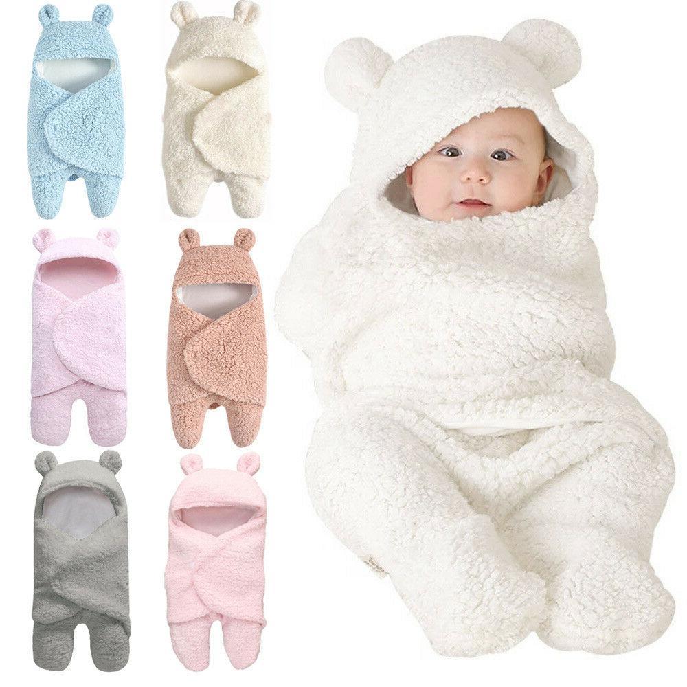 toddler newborn baby infant fleece swaddle wrap