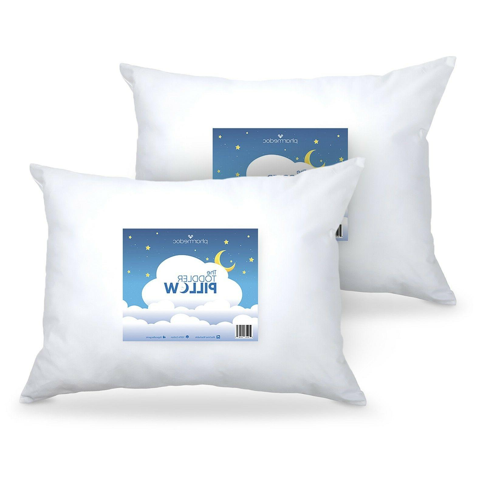 2 Pack Toddler Pillows – Breathable Little Pillow for Chil