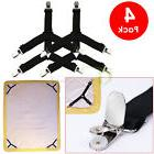 4PCS Triangle Bed Mattress Sheet Clips Grippers Straps Suspe