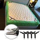 4PCS Triangle Bed Sheet Straps, Adjustable Fitted Holder Cli