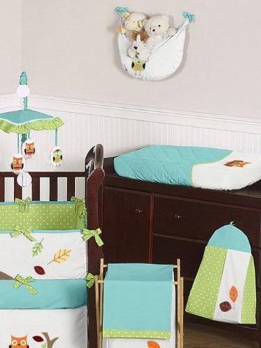 Sweet and Hooty Owl Unisex Baby Crib Set