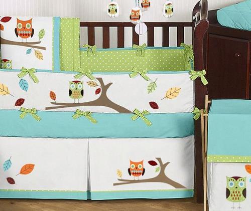 Sweet Jojo Designs and Unisex Boy Girl Crib Set