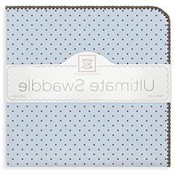 SwaddleDesigns Ultimate Receiving Blanket, Brown Polka Dots,