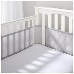 BreathableBaby Ultra Luxe Breathable Mesh Crib Liner - Gray