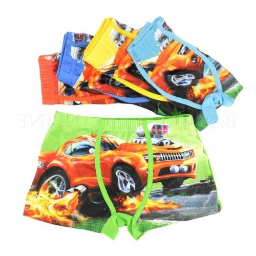 Underwear Cartoon Kids Boys Cotton Baby Panties 5 Pcs/lot