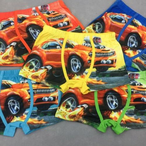 Underwear Cartoon Boys Panties Car Pcs/lot
