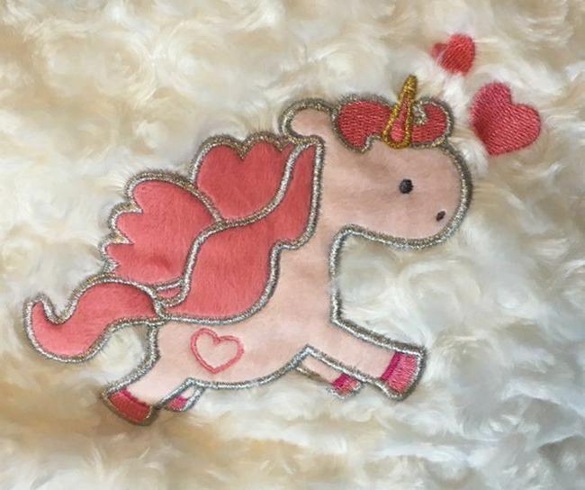 Unicorn Baby for Girls Silky Patchwork Throw Newborn