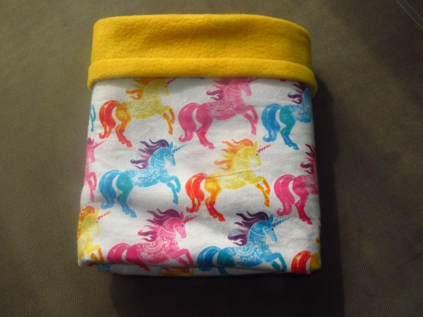 "Unicorns 42""x 36"" Fleece & Hand Made Colorful Girls"