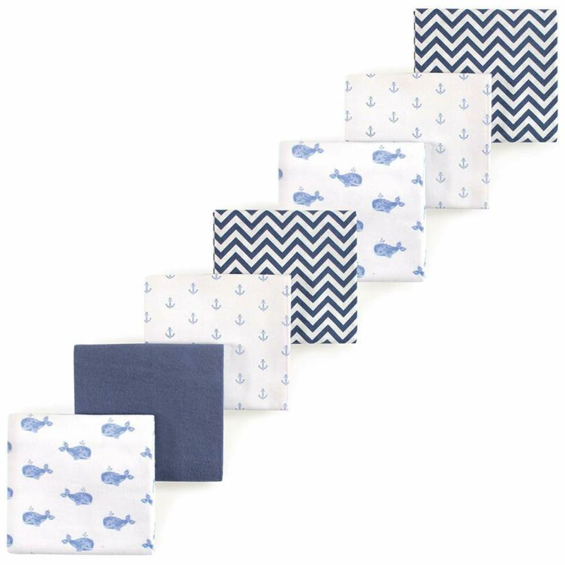 unisex baby flannel receiving blankets 7 pack