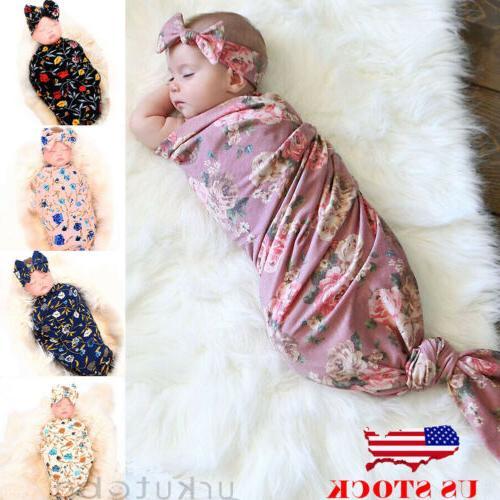 US Newborn Infant Baby Blanket Sleeping