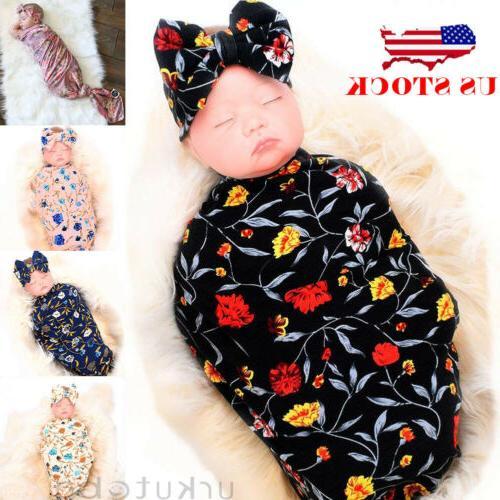 us 2pc newborn infant baby swaddle blanket