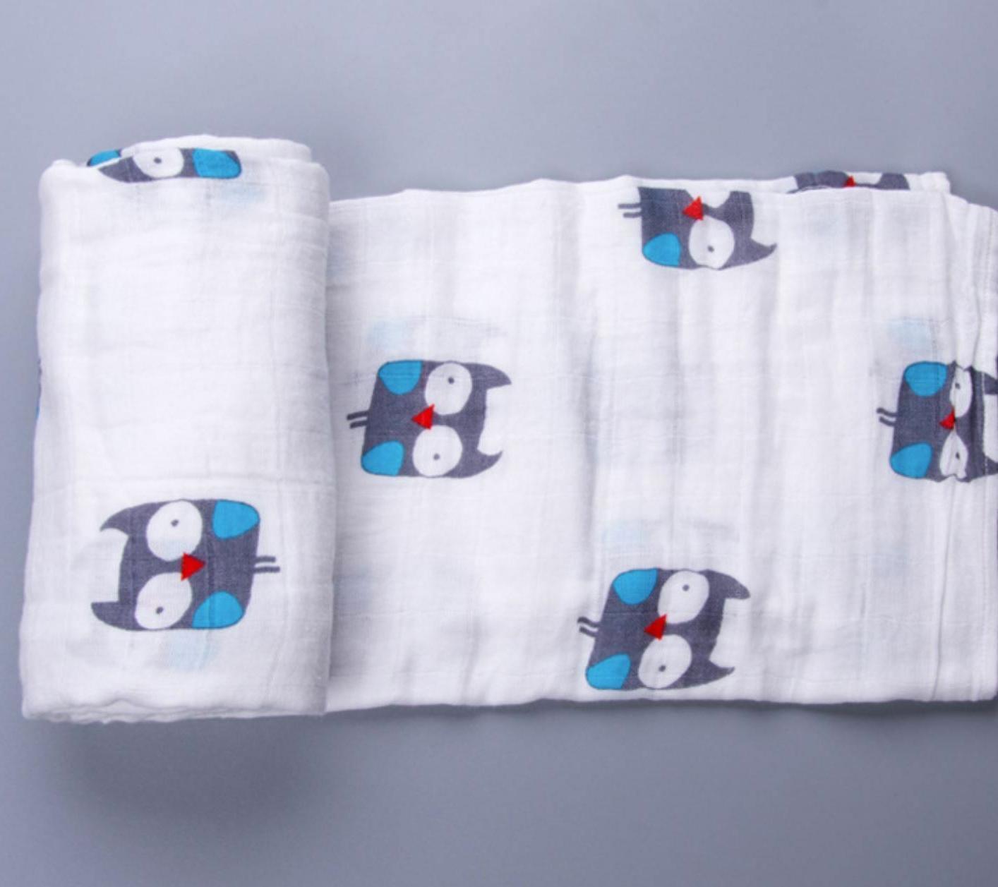 US Baby Newborn Large Swaddle Blanket Bathing Muslin