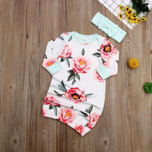 US Girl Boy Floral Swaddle Wrap