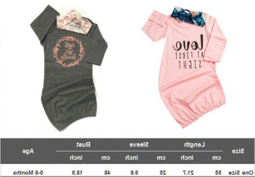 US Newborn Infant Wrap 2PCS Outfits Set