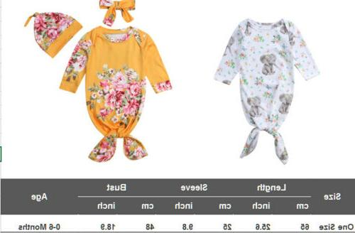 US Bags Newborn Infant Wrap Gown Set
