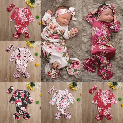 US Baby Flower Wrap Blanket Long Sleeve