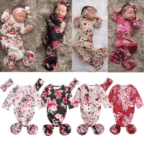 us cute baby girl flower swaddle wrap