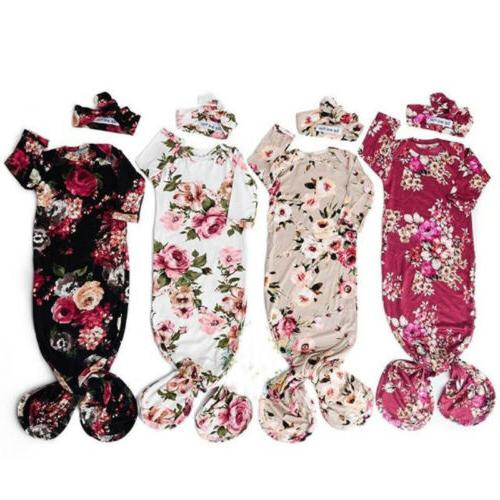 US Girl Swaddle Blanket Sleeping Set 0-6M